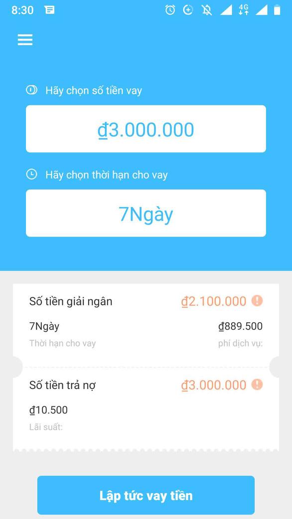 Vay tiền qua app: quá nhanh, quá nguy hiểm - Ảnh 3.