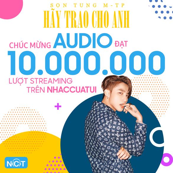 Hãy trao cho anh của Sơn Tùng M-TP lập kỷ lục 10 triệu lượt nghe trên NhacCuaTui - Ảnh 3.