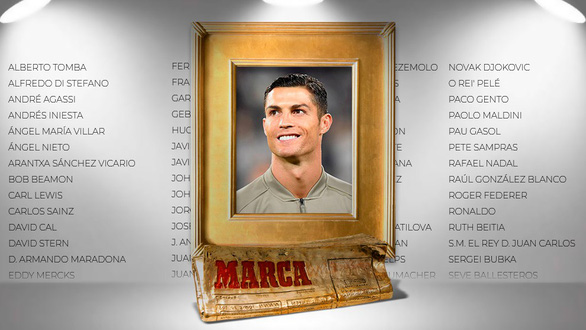 Ronaldo nối gót Messi và Nadal nhận phần thưởng Huyền thoại Marca - Ảnh 3.