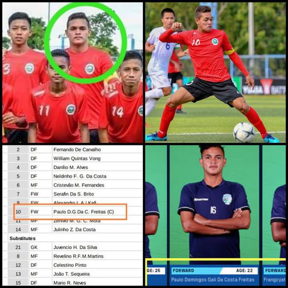 Cầu thủ Đông Timor 22 tuổi... dự Giải U15 Đông Nam Á 2019? - Ảnh 1.