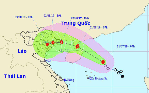 Áp thấp nhiệt đới mạnh thành bão số 3, dự báo đổ bộ Quảng Ninh - Nam Định - Ảnh 1.