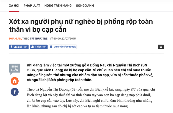 Bị bọ cạp cắn ở Việt Nam thành bị bạo hành ở Trung Đông - Ảnh 2.