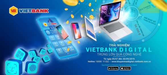 Vietbank khuyến mãi lớn dịp ra mắt Mobile Banking Vietbank Digital. - Ảnh 1.