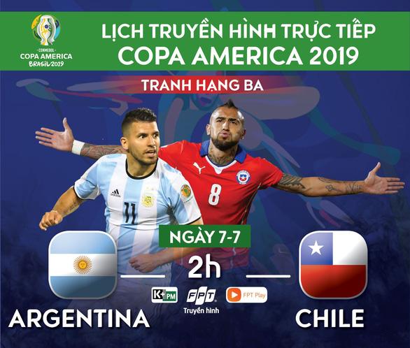 Lịch trực tiếp tranh hạng 3 Copa America 2019: Argentina - Chile - Ảnh 1.