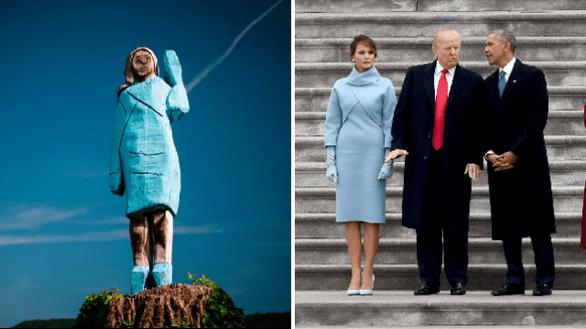 Tượng Đệ nhất phu nhân Mỹ Melania Trump bị dân ở quê bà nhận không ra - Ảnh 3.