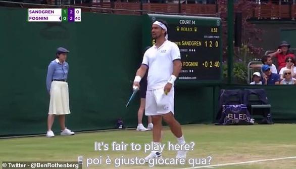 Phát ngôn muốn bom nổ Wimbledon, Fognini đối mặt với án phạt - Ảnh 1.