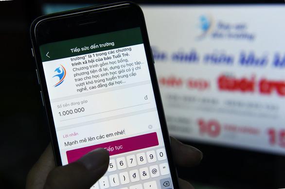 Hơn 2.000 bạn đọc Chung tay cùng Tuổi Trẻ trên ví điện tử MoMo - Ảnh 1.