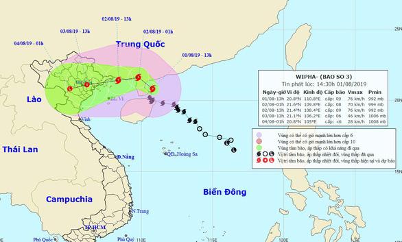 Chiều tối mai, bão đổ bộ các tỉnh Quảng Ninh - Thái Bình - Ảnh 1.