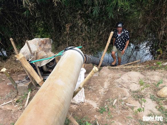 Hồ chứa nước ở Huế cạn khô kỷ lục, hơn 320ha lúa nguy cấp - Ảnh 2.