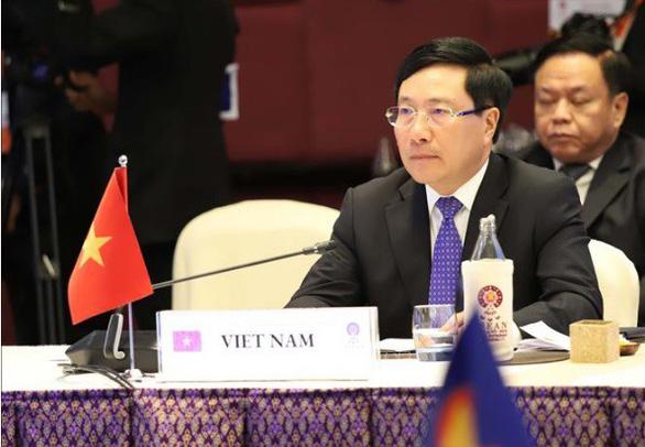 Việt Nam nêu vấn đề Biển Đông trong cuộc họp ASEAN - Mỹ - Ảnh 1.