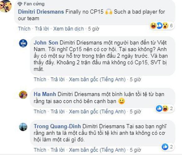 Công Phượng bị gạch tên, CĐV Việt Nam bình loạn bị nhắc nhở trên Facebook của CLB Sint-Truidense - Ảnh 2.