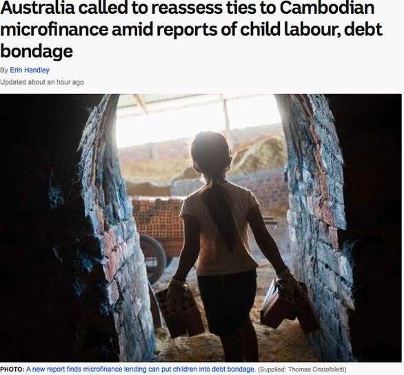 Úc kêu gọi có biện pháp với cáo buộc lạm dụng lao động trẻ em ở Campuchia - Ảnh 1.