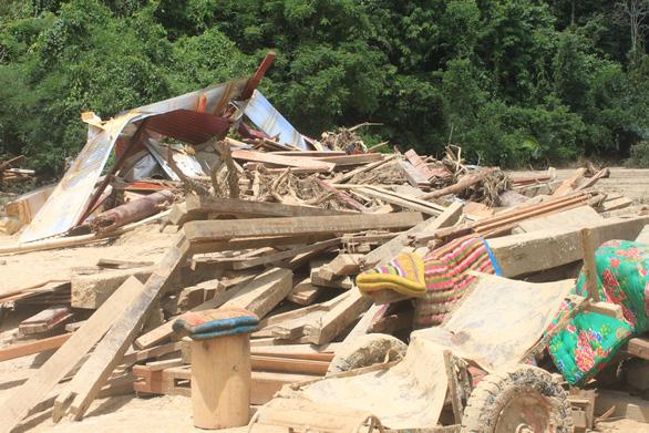 Lũ rút, vô số gỗ khủng ở lại bản Xa Ná - Ảnh 11.