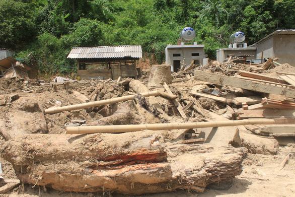Lũ rút, vô số gỗ khủng ở lại bản Xa Ná - Ảnh 9.