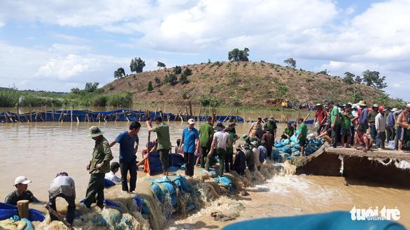 Hơn 500 người dầm mình trong nước vá đê cứu lúa vỡ òa niềm vui - Ảnh 2.