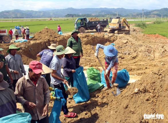Đê Quảng Điền vỡ, đe dọa hàng ngàn hecta lúa sắp thu hoạch - Ảnh 2.