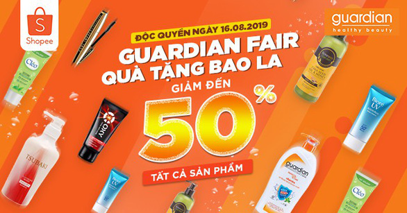 Guardian Fair - Quà tặng bao la độc quyền trên Shopee - Ảnh 1.