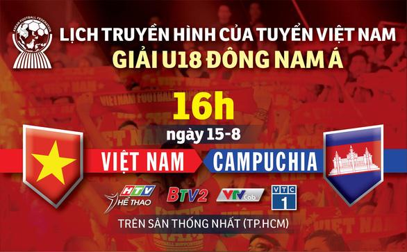 Lịch trực tiếp U18 Việt Nam gặp Campuchia ở Giải U18 Đông Nam Á 2019 - Ảnh 1.