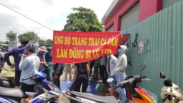 Tranh nhau mua cá tầm giải cứu trại cá Lâm Đồng trên vỉa hè TP.HCM - Ảnh 2.
