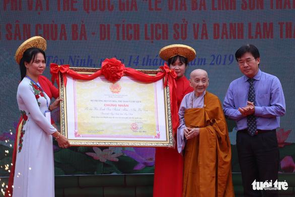 Lễ vía bà Linh Sơn Thánh Mẫu núi Bà Đen là di sản phi vật thể quốc gia - Ảnh 1.
