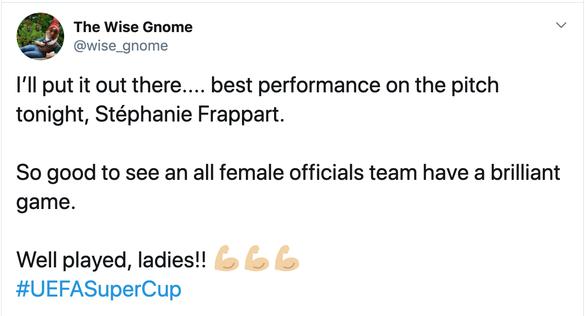 Nữ trọng tài đầu tiên bắt trận Siêu cúp châu Âu được khen làm tốt hơn cả nam giới - Ảnh 6.