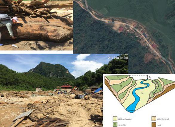 Thiệt hại khủng khiếp ở Xa Ná do gỗ lớn từ thượng nguồn đâm thẳng vào nhà dân - Ảnh 2.