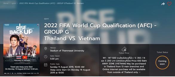 Ngày 19-8 bán vé online cho người Việt xem trận Thái - VN - Ảnh 2.