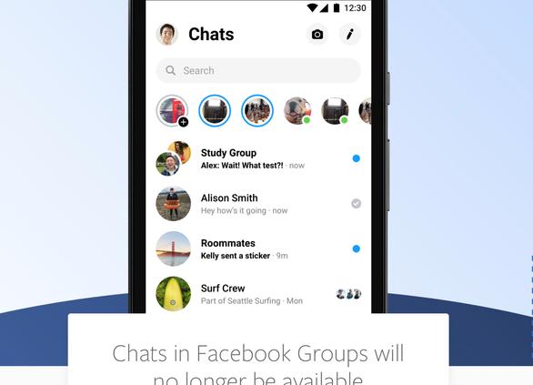 Facebook dừng tính năng chat trong trang nhóm - Ảnh 1.