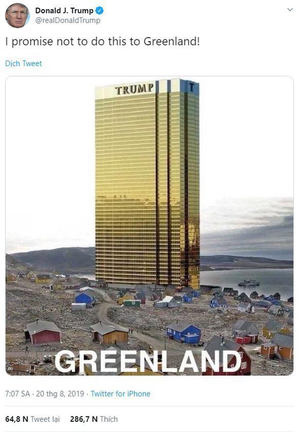 'Thương vụ Greenland tan vỡ, ông Trump bỏ luôn chuyến thăm Đan Mạch - Ảnh 1.