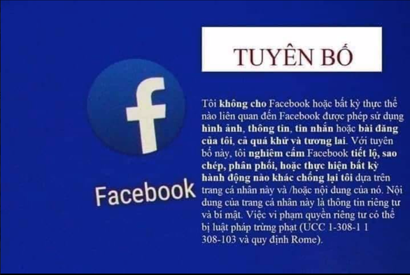 Lại tuyên bố Facebook' để bảo mật thông tin cá nhân - Ảnh 1.