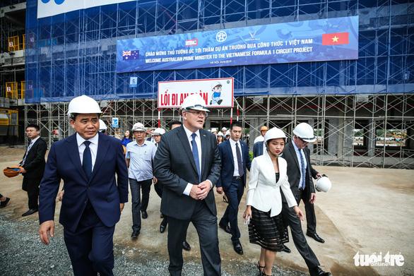 Thủ tướng Úc có mặt ở công trường đường đua F1 Việt Nam - Ảnh 3.