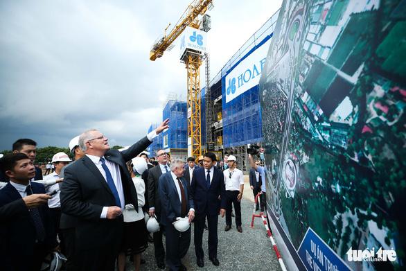 Thủ tướng Úc có mặt ở công trường đường đua F1 Việt Nam - Ảnh 1.