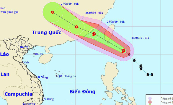 Bão Bailu giật cấp 12 đi vào Trung Quốc, Hà Tĩnh - Quảng Trị mưa lớn - Ảnh 1.