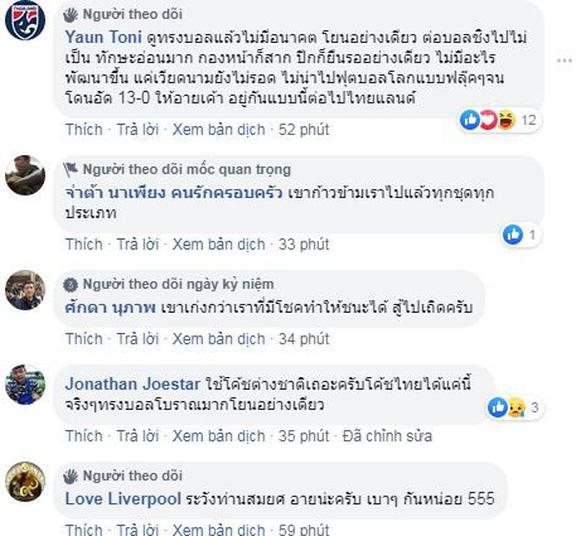 CĐV Thái đua nhau khóc: Chúng ta lại thua Việt Nam. Ôi trời ơi - Ảnh 1.