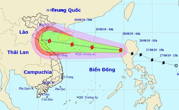 Bão Podul vào Biển Đông, có thể đổ bộ Thanh Hóa - Quảng Bình - Ảnh 1.