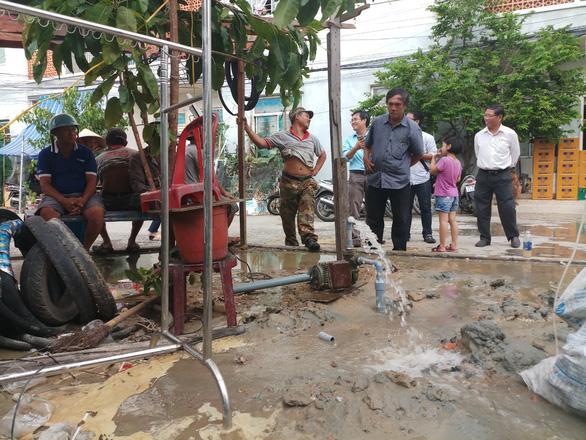 Đà Nẵng khoan giếng ngầm ở 2 quận để cấp nước tạm thời cho dân - Ảnh 1.