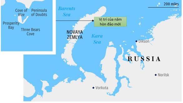 Nga phát hiện 5 hòn đảo mới ở Bắc Cực nhờ băng tan - Ảnh 2.