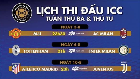 Lịch thi đấu ICC: Manchester United đấu AC Milan - Ảnh 1.