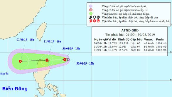 Bão mới tan, áp thấp nhiệt đới đang tiến vào Biển Đông - Ảnh 1.