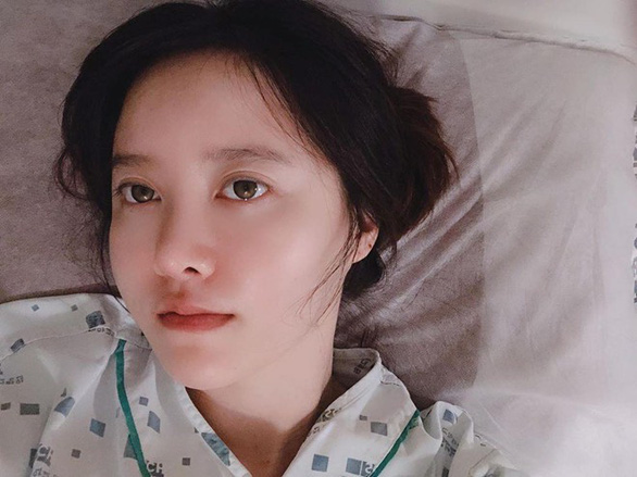 Trong tâm bão ly hôn chồng trẻ, Goo Hye Sun nhập viện cắt khối u lành tính  - Ảnh 1.