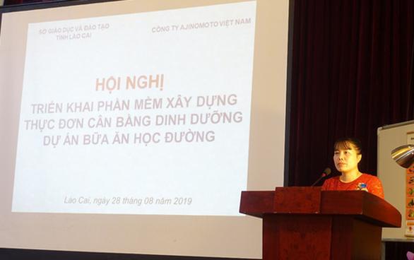 Chuẩn hóa thực đơn tại các trường tiểu học bán trú tỉnh Lào Cai - Ảnh 1.