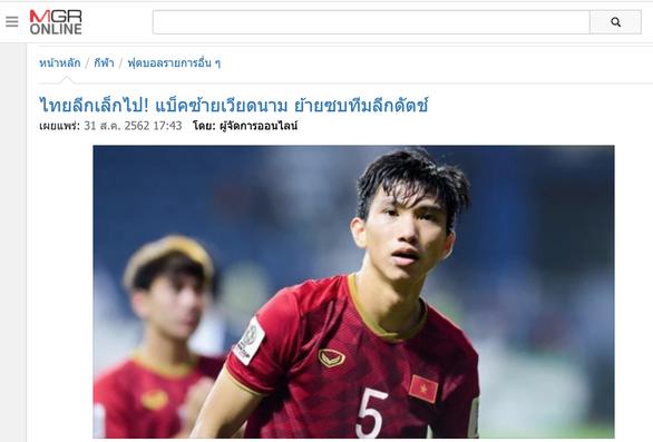 MGR Online: 'Giải vô địch Thái quá nhỏ, Văn Hậu quyết định sang châu Âu' - Ảnh 1.