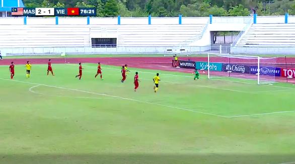 Phòng ngự quá tệ, U15 Việt Nam thua Malaysia ở bán kết Giải U15 Đông Nam Á - Ảnh 1.