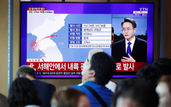 Ông Un nói bắn tên lửa để cảnh cáo Mỹ-Hàn - Ảnh 2.
