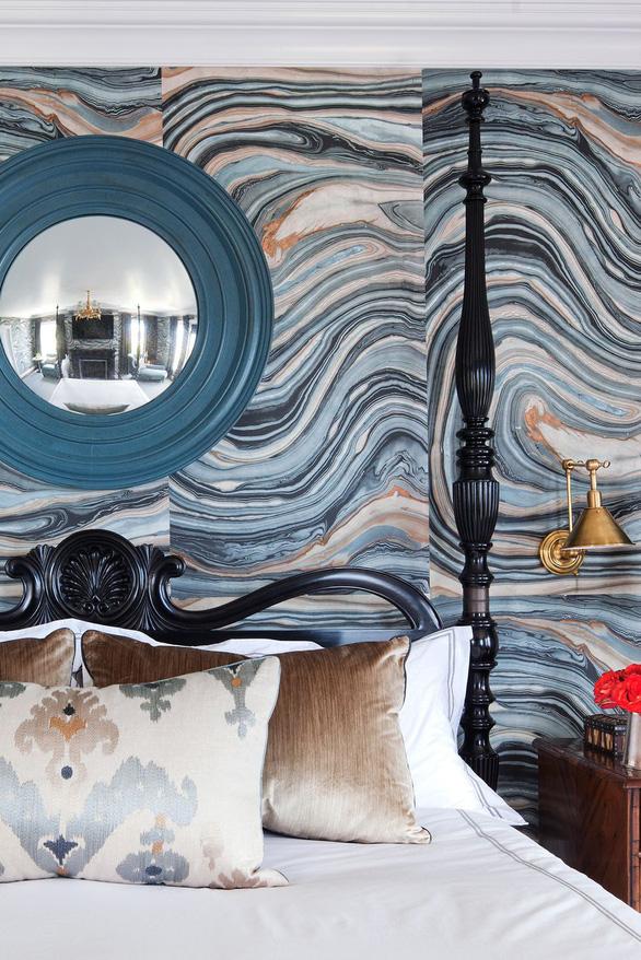 10 mẫu giấy dán tường ấn tượng làm tăng nét cá tính cho phòng ngủ - Ảnh 9.