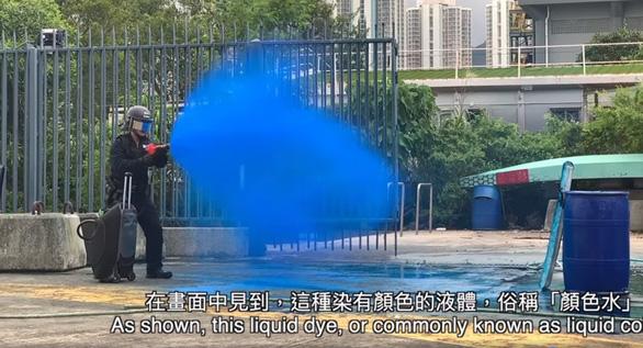 Hong Kong sẽ phun màu lên người biểu tình quá khích - Ảnh 1.