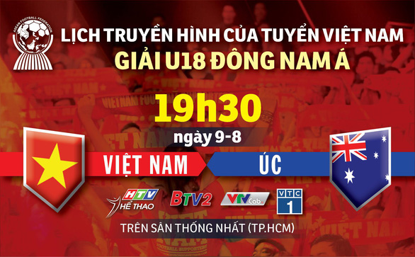 Lịch trực tiếp U18 Việt Nam gặp Úc ở giải U18 Đông Nam Á 2019 - Ảnh 1.