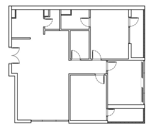 Căn hộ 3 phòng ngủ trở nên sang trọng, hiện đại hơn nhờ chất liệu gỗ tối màu - Ảnh 1.