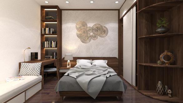 Căn hộ 3 phòng ngủ trở nên sang trọng, hiện đại hơn nhờ chất liệu gỗ tối màu - Ảnh 9.
