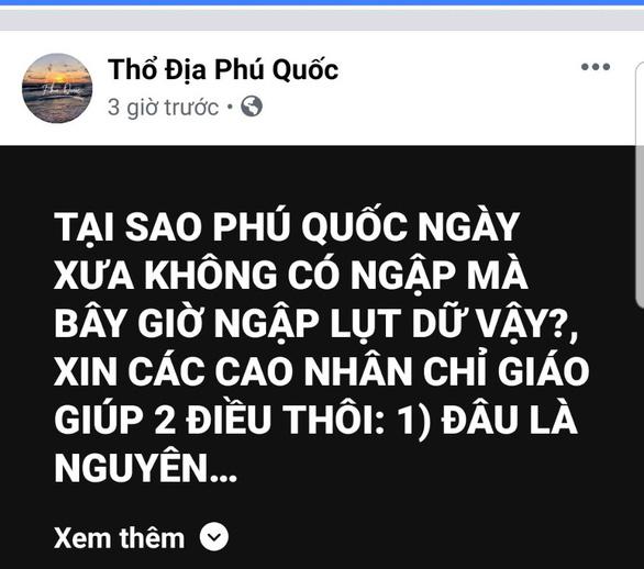 Mạng xã hội tràn ngập hình ảnh, bàn luận về ngập ở Phú Quốc - Ảnh 7.